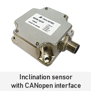 Inclination sensor with CANopen interface